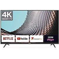 TCL 43DP628 43-Inch 4K UHD Smart TV - HDR10 / Freeview Play / BBC iPlayer / Netflix 4K / YouTube 4K, Work with Alexa, Wi-Fi ,2*HDMI, 1*USB Port [Energy Class A] Black