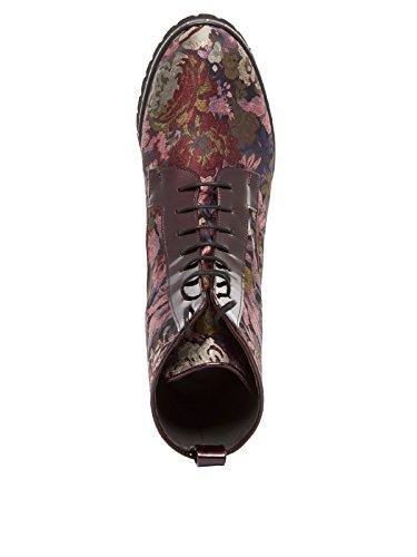 Peter Kaiser Lesatella Floral Printed Biker Boot Rot