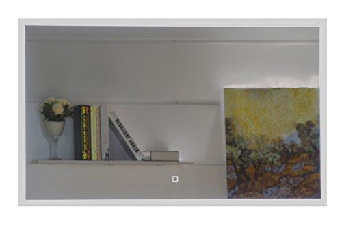 Badezimmerspiegel Badspiegel mit LED-Beleuchtung Touch-Schalter (100 x 60 cm) -