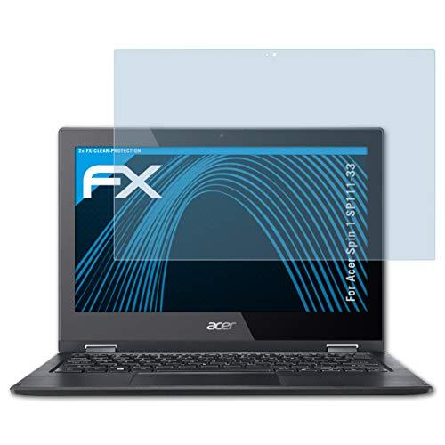 atFolix Schutzfolie kompatibel mit Acer Spin 1 SP111-33 Folie, ultraklare FX Bildschirmschutzfolie (2X)