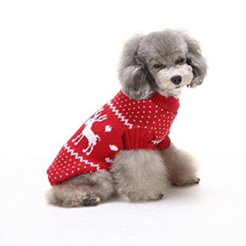 Haustier Hundemantel Pullover Weihnachten Rot LNAG , (Mantel Roten Kostüm Britischen Der)