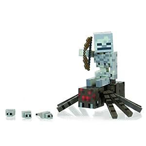 Minecraft - 16451 - Figurine Articulée avec Accessoires - Squelette et Araignée