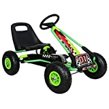Ricco Kids Go Kart with Foot Pedal AIR Wheels Brake Lever Clutch Gear