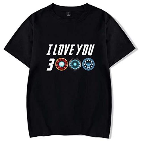 qingning Endgame I Love You 3000 T-Shirt Tony Stark Cosplay 3D Drucken Shirt