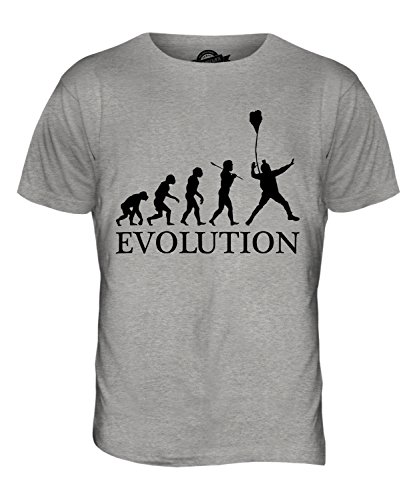 CandyMix Base Jumping Evolution Des Menschen Herren T Shirt Grau Meliert