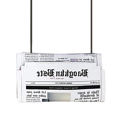 Ardorman Zeitungen Modellierung Tag Handtaschen, Briefumschlag Tasche Casual Schultertasche Geldbörse Abendtaschen, Für Die Reise (Tasche-tag)