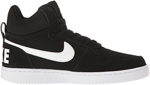 Nike Mädchen Wmns Court Borough Mid Basketballschuhe Blanco (Blanco (black/white))