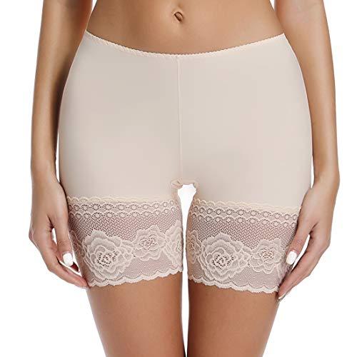 Band Leg Panty (Joyshaper Slip Shorts für Unterkleider Frauen Elastisch Anti-Scheuern Oberschenkel Bänder Unterwäsche Spitze Panty - beige - XXX-Large)