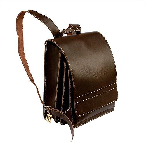 Großer Lederrucksack / Lehrerrucksack aus Leder, für Damen und Herren, Braun, Jahn-Tasche 670