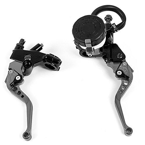"""Nawenson Moto Moto 7/8\"""" Kit de embrague palancas de freno Cilindro maestro depósito de fluido para Yamaha Titiuam"""
