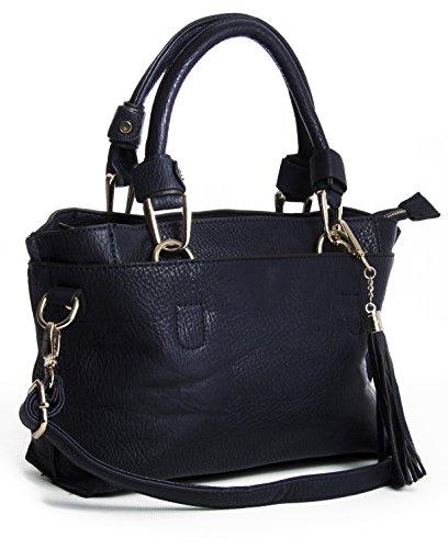 Big Handbag Shop, Borsa a secchiello donna One Black