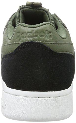 Reebok Workout Plus It, Sneakers Basses Homme Vert (Hunter Green/black/white)
