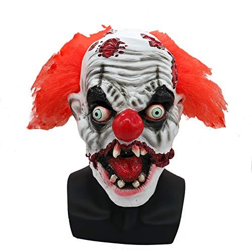 Kostüm Scary Clown Super - CHESUN Clown Maske Scary Halloween Kostüm Horror Maske Blutige Latex Maske Super Terrorist Maske Party Terror Cosplay Kostüm Maske Für Erwachsene (Eine Größe)
