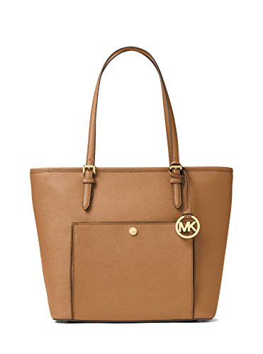 MICHAEL MICHAEL KORS Jet Set Travel Large Leather Tote, Acorn