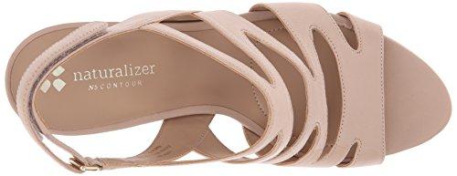 Naturalizer Pressley Damen Breit Leder Sandale Taupe