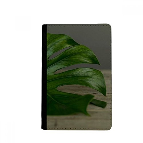 beatChong Tabelle Blatt Pflanze Bild Natur-Pass-Halter Travel Wallet Abdeckungs-Fall Karten-Geldbeutel (Tabelle Blatt Abdeckung)