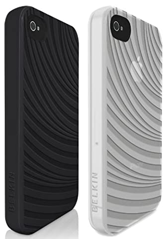Belkin TPU Case for iPhone 4/4S - Black and White (Pack of 2)