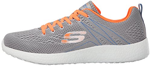 2016 Skechers Burst Second Wind Lightweight Trainers Mens Street Walking Shoes Light Gray/Orange 11UK