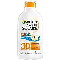 Garnier Ambre Solaire Crema Solare Bambini, Protezione Solare Alta IP30, Latte Idratante senza Parabeni, Protezione Alta, 200 ml