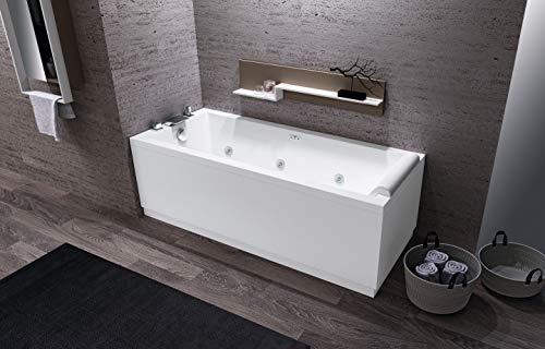 vasca Calos 2.0 misura 170 x 70 con pannello frontale e laterale Idromassaggio Whirlpool no rubinetto