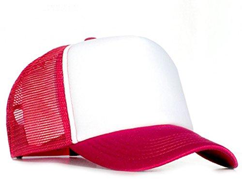 Bastart Caps Raphia type casquette en maille Rouge/blanc