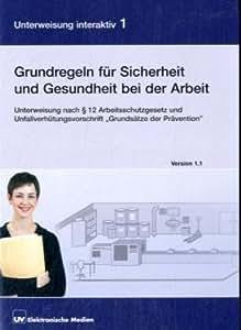 """Grundregeln für Sicherheit und Gesundheit bei der Arbeit 1.1, 1 CD-ROM Unterweisung nach §12 Arbeitsschutzgesetz und Unfallverhütungsvorschrift """"Grundsätze der Prävention"""", für Windows 98 SE, ME, NT 4 oder höher, 2000, XP"""