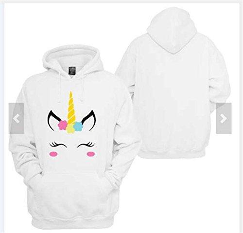 Eudolah Damen Hoodie Einhorn Sweatshirt pullover Sport Katze