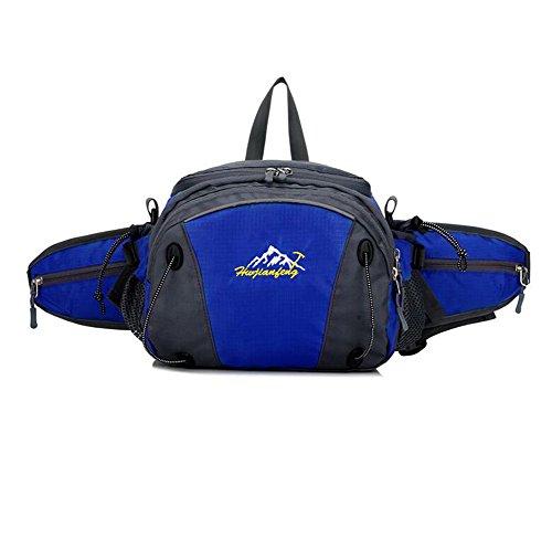 Wmshpeds Outdoor multifunzionale con tasche uomini doppia cerniera arrampicata borsa a tracolla sport impermeabile zaino di equitazione donna D