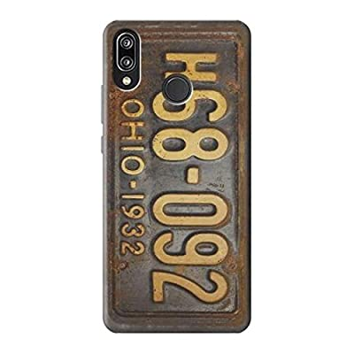 Vintage Car License Plate Case Cover Custodia per Huawei P20 Lite