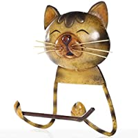 DYY HQ Vintage Toilet Paper Towel Holder, Cute Cat Cast Iron Toilet Paper Holder Stand Towel Holder Standing For Bathroom HQ