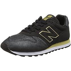 New Balance 373, Zapatillas para Mujer, Negro (Black/Gold Ng), 38 EU