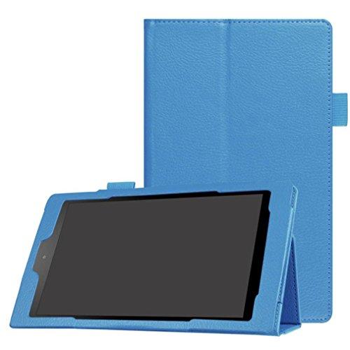 Vovotrade Copertura del basamento del cuoio conveniente pratiche in foglio di caso per Amazon Fuoco HD 8 (Cielo blu) - Custodia Regalo Personalizzato Scheda