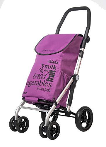 CARLETT Lett450 Leicht, ideal für Familieneinkäufe, Aluminium, Violett, 1,