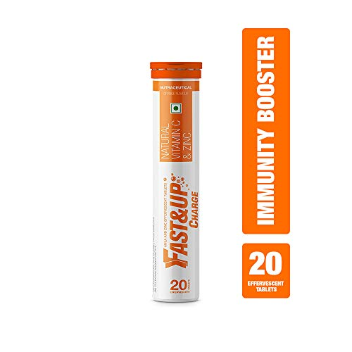 Fast&Up Charge Effervescent Vitamin C and Zinc Supplements - 20 Tablets (Orange)