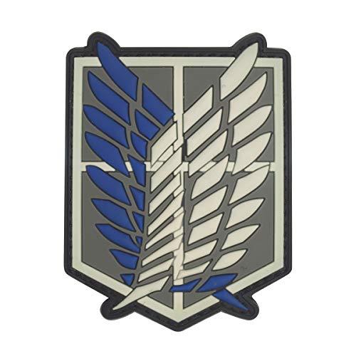 Kostüm Corps Recon - Cobra Tactical Solutions Military PVC Patch Shingeki No Kyojin Attack Titan Recon Corps mit Klettverschluss für Airsoft/Paintball für Taktische Kleidung/Rucksack