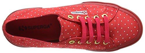 Superga 2750 DOTSSATINW, Baskets Femme Rouge - Rouge