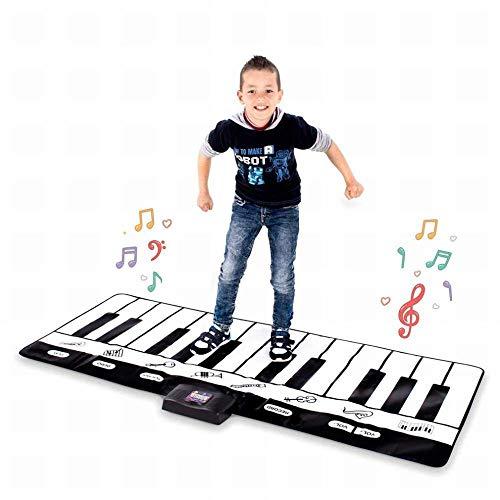 Gz piano musicale per piano musicale tappetino per piano musicale per pianoforte a pavimento con modalità di riproduzione, registrazione, riproduzione e demo,a,180 * 69cm