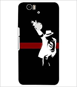PrintDhaba Michael jackson D-2448 Back Case Cover for HUAWEI NEXUS 6P (Multi-Coloured)