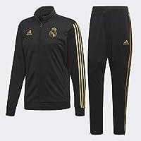 adidas Real PES Suit, Tuta Uomo, Nero/Orfúos, L