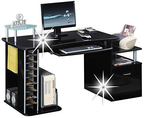 Bureau informatique noir pour top meubles de bureau