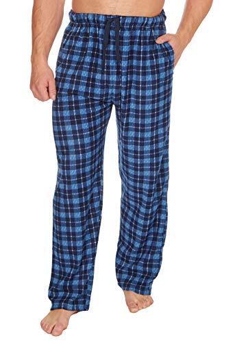 Hombre Cuadros Forro Polar Ropa De Descanso Pijama