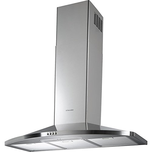 Electrolux EFC90465OX Monté au mur Acier inoxydable 600m³/h C hotte - hottes...