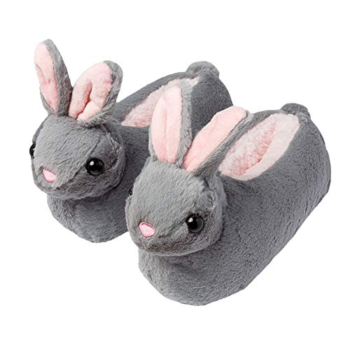 Girls Bunny Rabbit Slippers Non-Slip Sole Novelty Floppy Ears