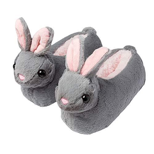 Girls Bunny Rabbit Slippers Non-Slip Sole Novelty Floppy Ears
