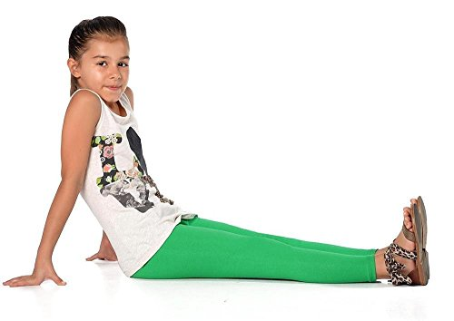 ings in 23 Farben Baumwolle, Gr. 92 bis 158 cm, p902 Grün 92 (Grüne Leggings Kinder)