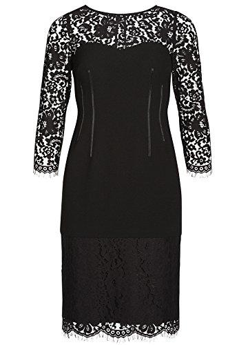 APART Fashion Kleid, Vestito Donna Schwarz (schwarz 0)