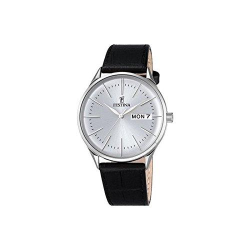 Festina Herren-Armbanduhr One Size, silberfarben, schwarz