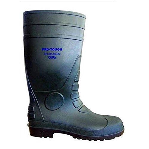 PRO-PRO-Pulsante resistente rigida 3 stivali di sicurezza, colore: verde
