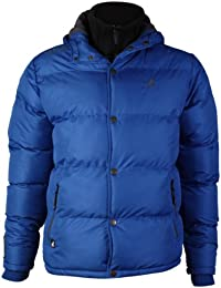 Mens Kangol Jacket Padded Hooded Fleece Line Bubble Puffer Heavy Winter Coat