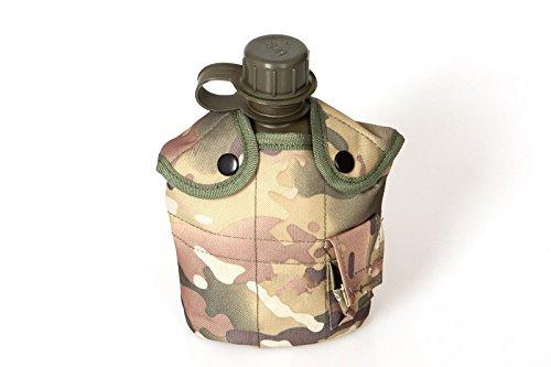 mitef 1Quart Kantine Kit mit Aluminium Cup & Camo Nylon Cover mit Pocket, CP -
